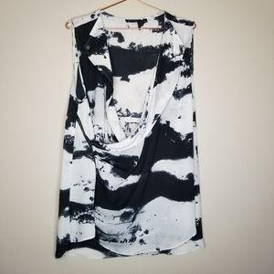 FYLO deep v, faux wrap sleeveless blouse top XXL